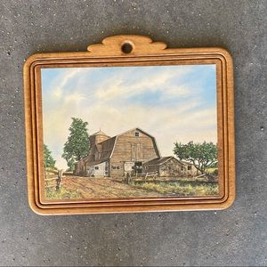 Vintage Barn Wall Hanging Picture
